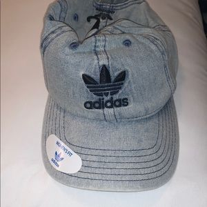 Women's adidas baseball hat light denim